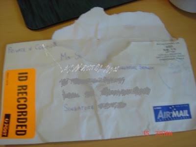 I got a mail … post