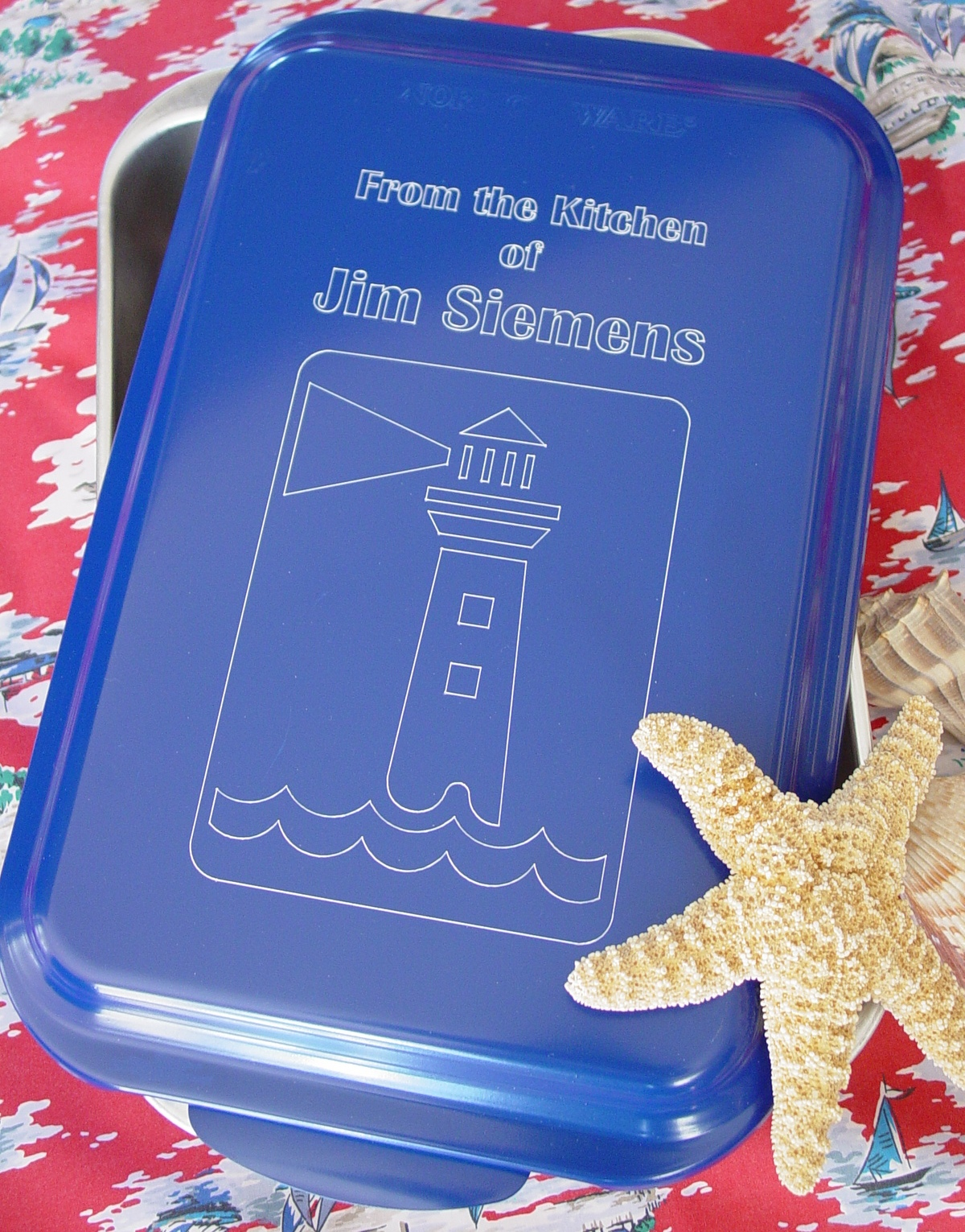 Lighthouse - 9 X 13 - Blue W-Starfish.jp