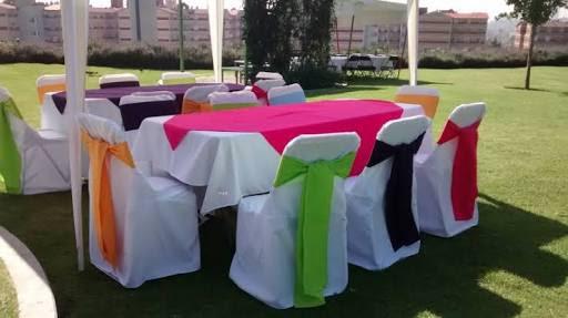 Renta y venta de manteles, fundas para sillas