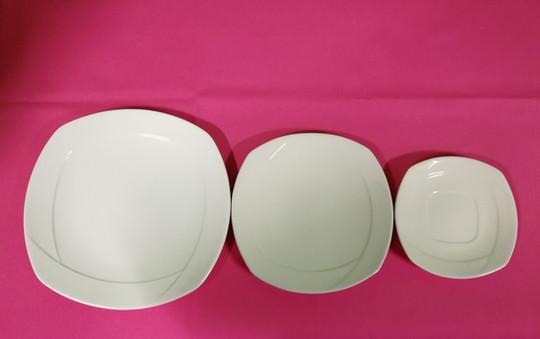 tipo de platos vajilla semicuadrada