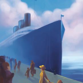 Buch-Illustration, die große Reise