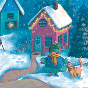 Der erste Schnee, Buch-Illustration