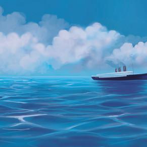 Buch-Illustration, Schiffsreise