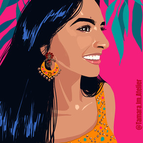 Editorial Illustration Tropical Pink