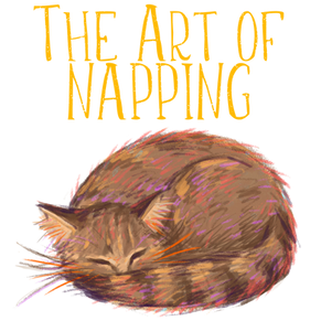 Kinderbuch-Illustration, schlafende Katze