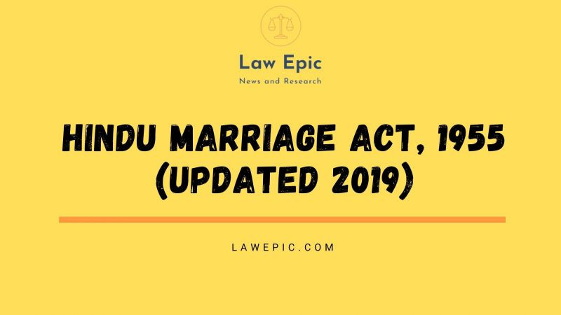 HINDU MARRIAGE ACT, 1955 (UPDATED 2019)