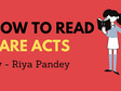 How to Read Bare Act - Tips To Understand Law