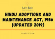 HINDU ADOPTIONS AND MAINTENANCE ACT, 1956 (Updated 2019)