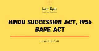 HINDU SUCCESSION ACT, 1956 BARE ACT