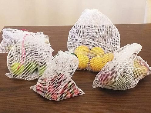 Sacola de feira reutilizável kit com 5 -  Empório Bio