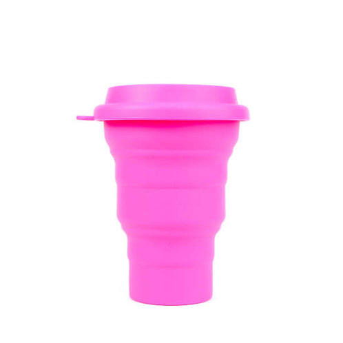 Copo Reutilizável de Silicone Rosa 480 ml – SILICUP