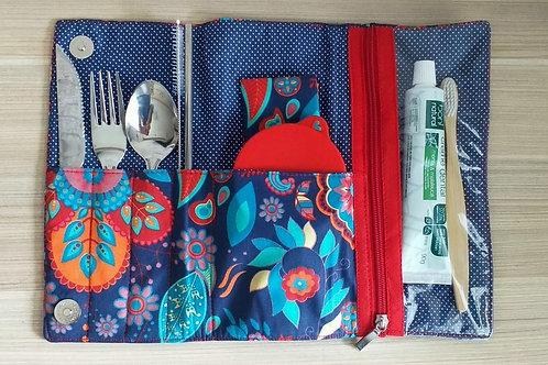 Kit lixo zero azul com escova e pasta de dentes - EMPÓRIO BIO