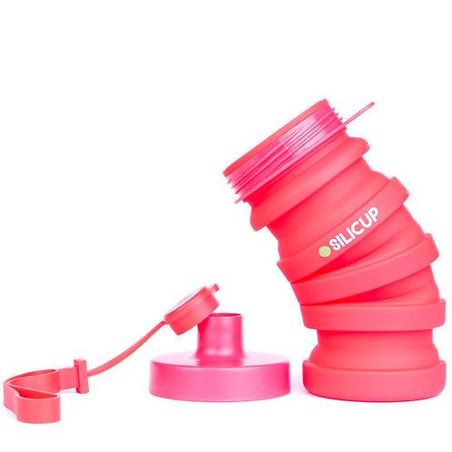 Garrafa Dobrável de Silicone Vermelha 400 ml – SILICUP