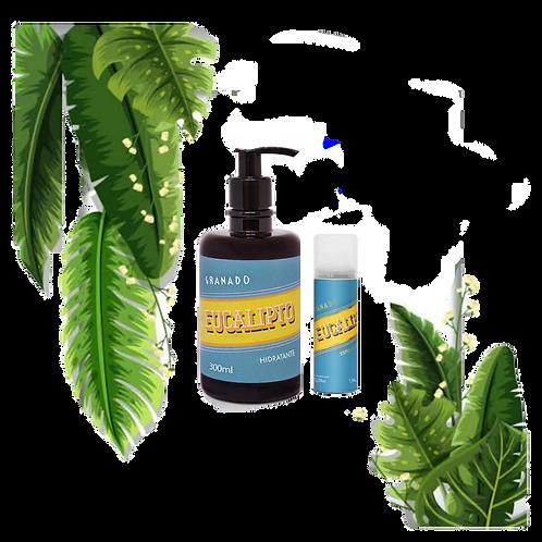 Kit espuma de barbear +hidratante de eucalipto - GRANADO