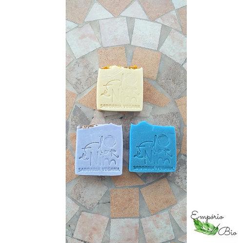 Kit com 3 sabonetes: lavanda, anis e calêndula - FLOR DE NIM