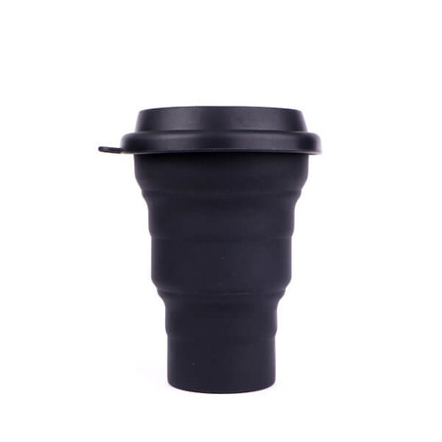 Copo Reutilizável de Silicone Preto 480 ml – SILICUP