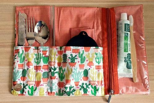 Kit Lixo Zero Cactos com escova e pasta de dente - EMPÓRIO BIO