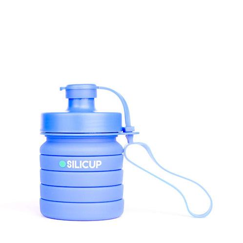 Garrafa Dobrável de Silicone Azul 400 ml – SILICUP