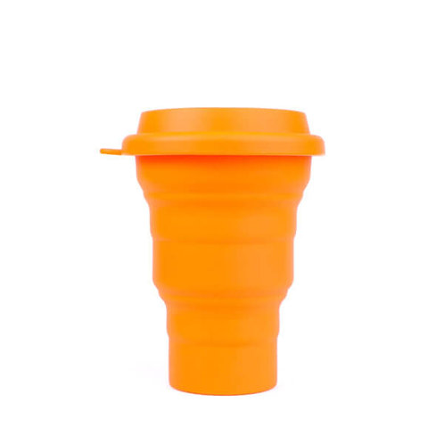 Copo Reutilizável de Silicone Laranja 480 ml – SILICUP