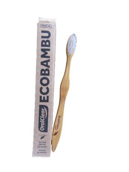 Escova de Bambu branca - ORAL CLEAR