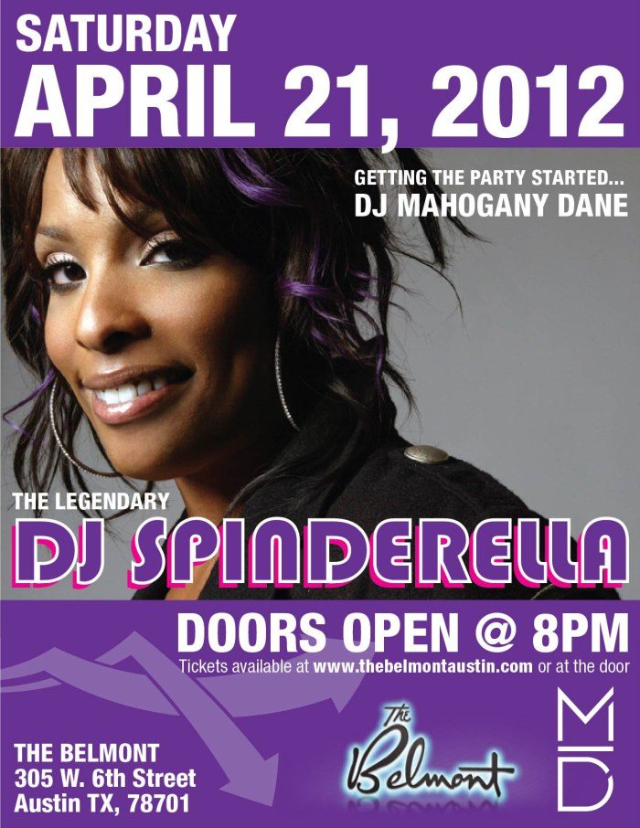 DJ SPINDERELLA - APRIL 2012