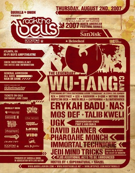 ROCK THE BELLS - 2007
