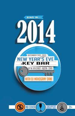 NEW YEARS EVE 2014 @ KEY BAR