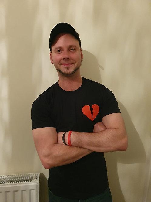 Lightning Heart logo T-shirt (double-sided)