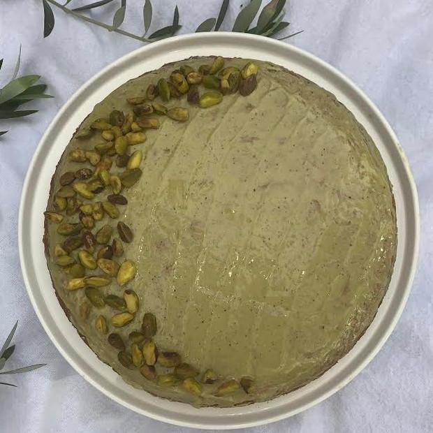 Sicilia Mia Pistachio Olive Oil Cake