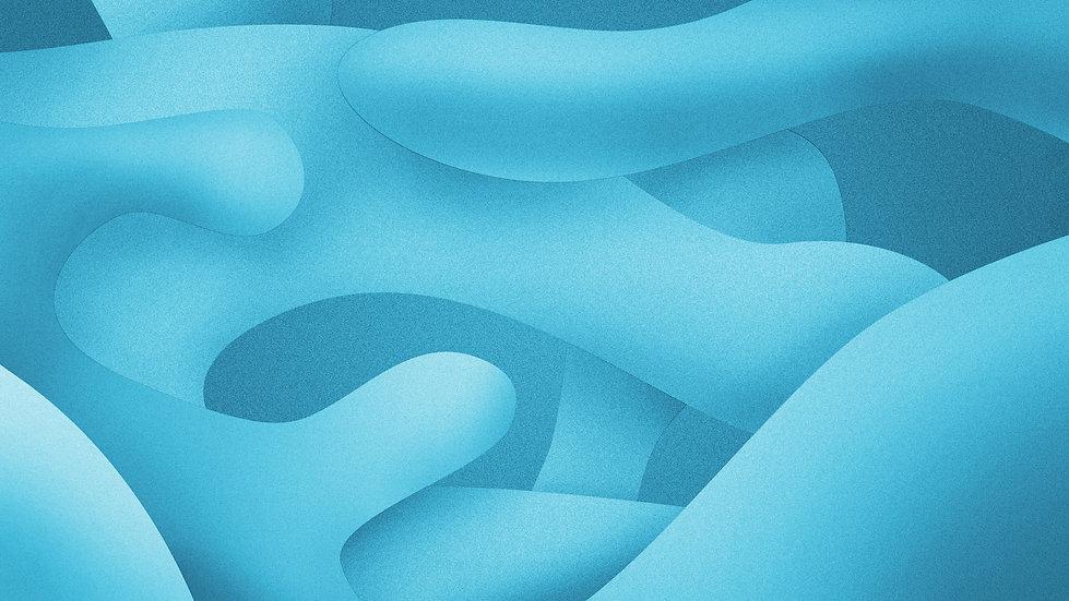 Синие абстрактные фигуры