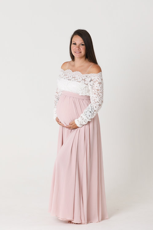 Pink and White Gown 36