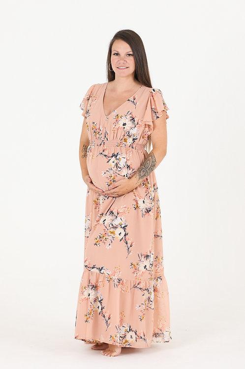 Flutter Sleeve Floral Dress 38