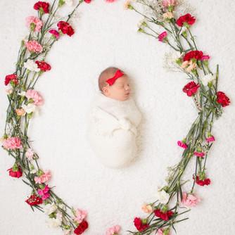 Annelise Jensen photography baby flower