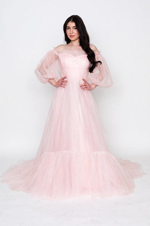 Pink Sheer Sleeves