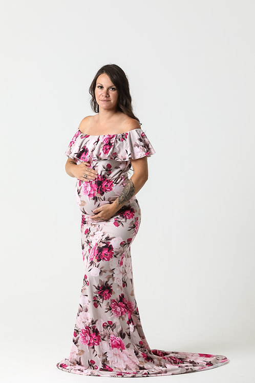 Pink Floral Gown 23