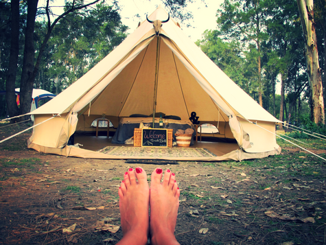 Our First Glamping Experience!