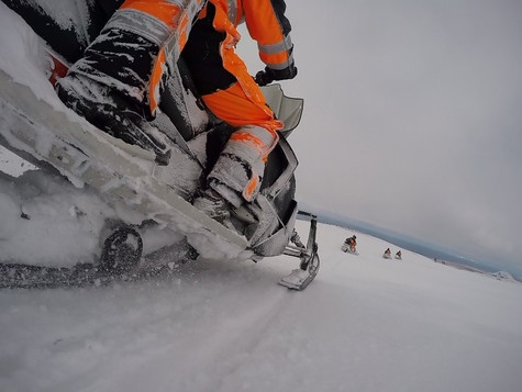 Snowmobiling with Arcanum Glacier Tours