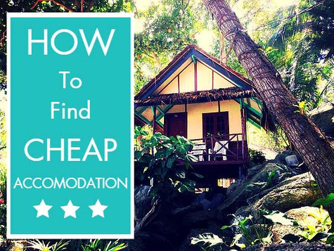 How To Find Cheap Accomodation
