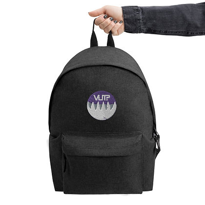 WUT Moon Embroidered Backpack