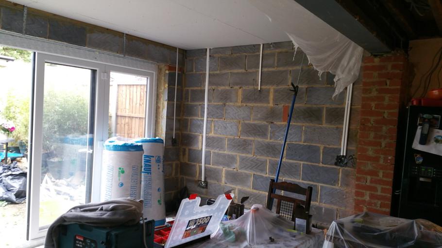 Wiring an extension