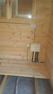 Outbuilding surface wiring