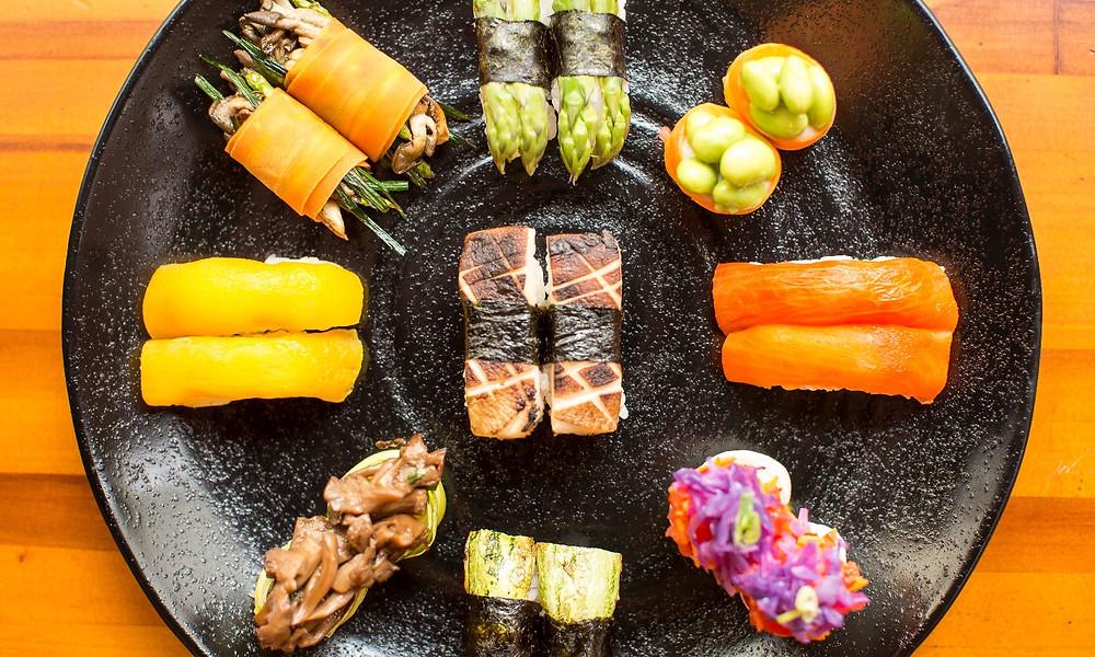 Melhores restaurantes novos São Paulo Sushimar Vegano Jardins sushi pimentão