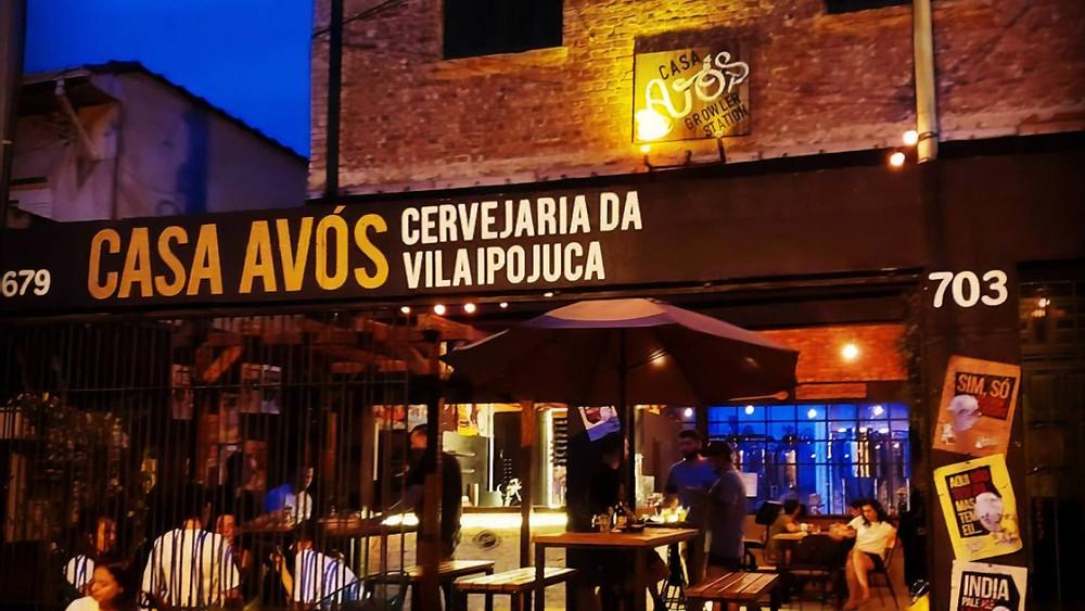 Melhores bares novos Casa Avós Cervejaria Vila Ipojuca