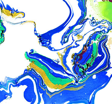 Pintar abstrato azul