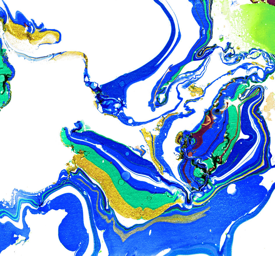 Peinture abstraite bleu