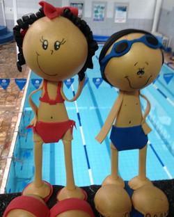 Oi !!! Esses são os mascotes do Planeta Água! Quer conhecê-los de perto _ Venha aqui !!! Eles estão