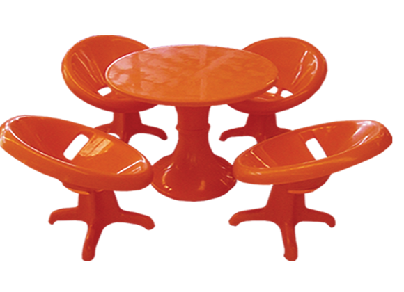 Saucer Chair Set
