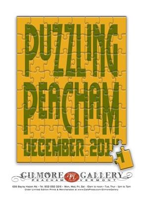 Puzzling Peacham poster