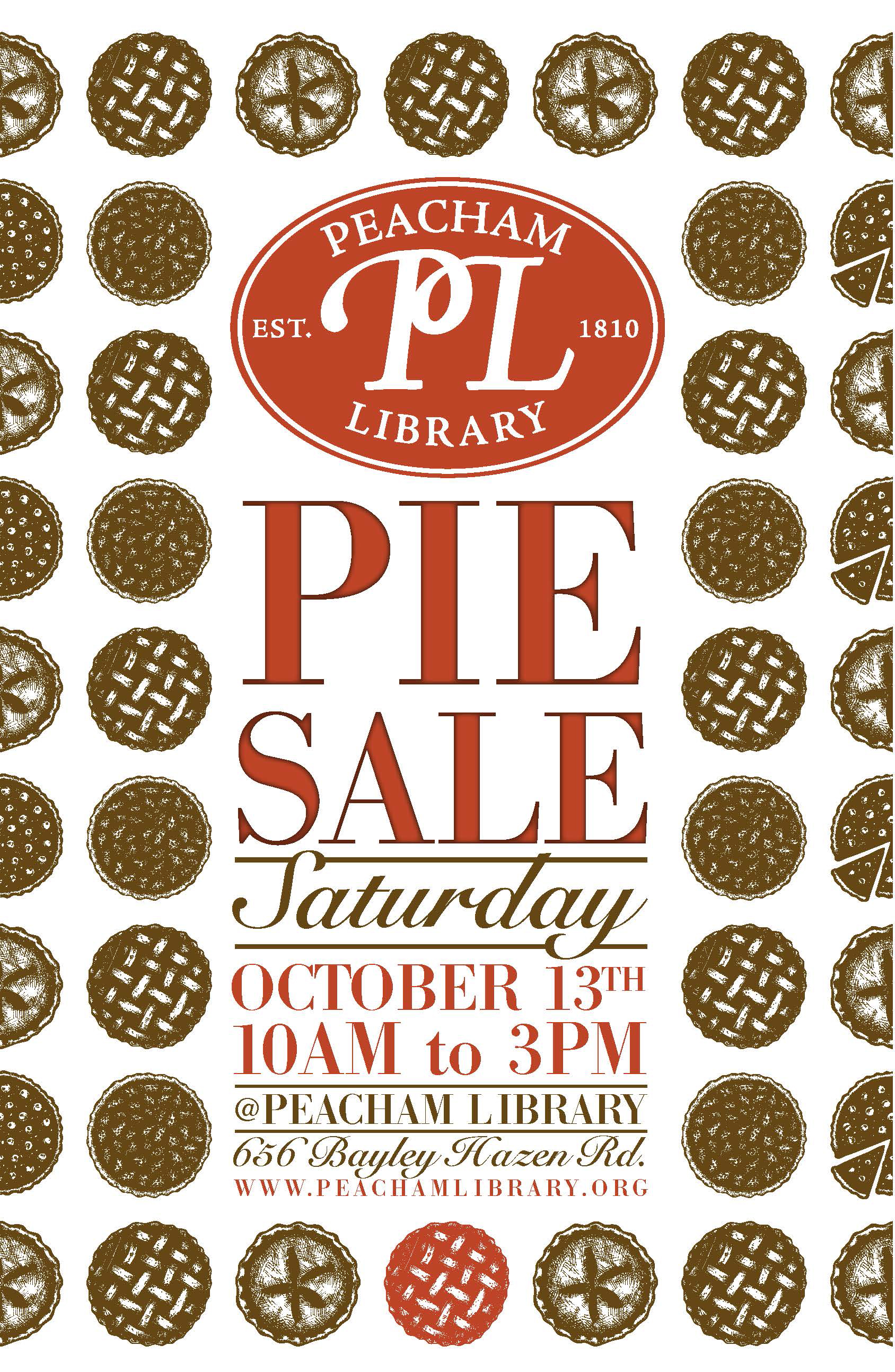 Library Pie Sale Poster