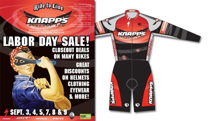Knapp's Cyclery ad and kit